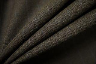 Тонкая костюмно-плательная шерсть болотная в полоску SR-D4 23122016