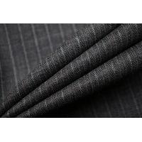 Тонкая костюмно-плательная шерсть серая в полоску SR-D4 23122017