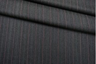 Костюмно-плательная шерсть серая елочка в полоску SR-C3 23122018