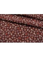 Креповая вискоза цветы на бордовом LEO-Н6 23122045