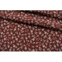 Креповая вискоза цветы на бордовом LEO.H-Н2 23122045