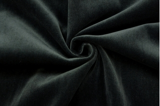 Бархат хлопковый очень темный бутылочно-зеленый PRT-A4 15032012