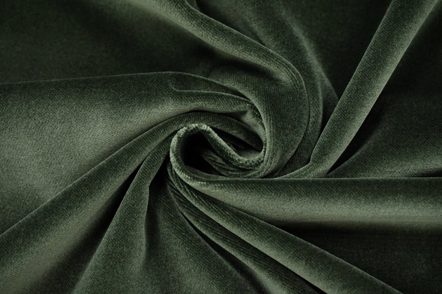 Бархат хлопковый темно-зеленый PRT-Z5 15032014