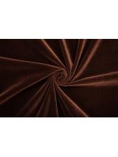 ОТРЕЗ 2,35 М Бархат хлопковый темный шоколад PRT-(20)- 15032017-1