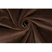 ОТРЕЗ 1,75 М Бархат хлопковый темно-коричневый PRT-(43)- 15032018-1