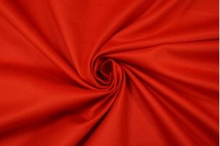 Хлопок-стрейч под велюр насыщенный красный PRT 15032021
