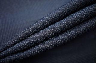Костюмно-плательная шерсть с шелком черно-синяя TXH-W4 09102035