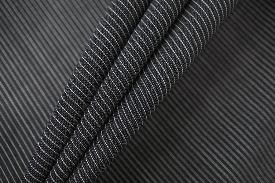 Плательно-рубашечная шерстяная марлевка серая в полоску TXH-B4 09102037