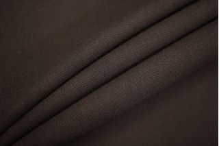 Плательный креп шерстяной темно-коричневый TXH-W4 09102043