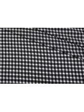 Хлопок рубашечно-плательный в черно-белую клетку TXH-G5 09102046