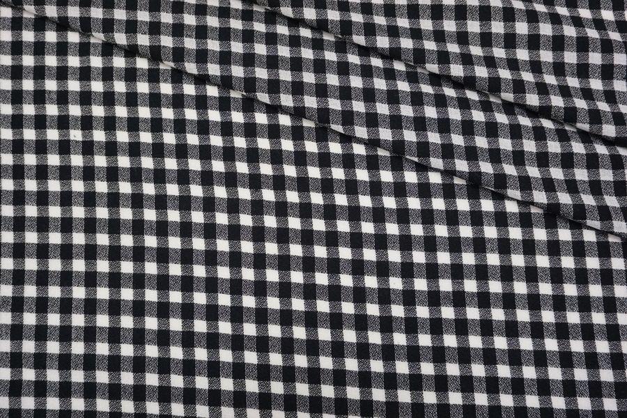 ОТРЕЗ 2,75 М Хлопок рубашечно-плательный в черно-белую клетку TXH.H-(23)- 09102046-2