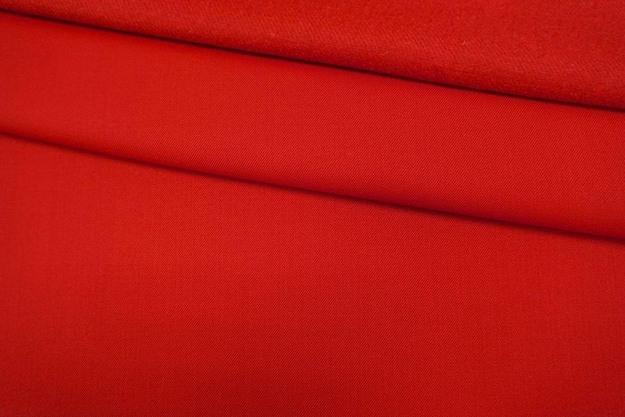 ОТРЕЗ 1,4 М Костюмная шерсть плотная красная TRC-(24)- 09102053-1