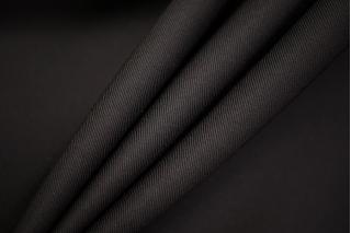 Костюмная шерсть с шелком черная TRC-W4 09102055