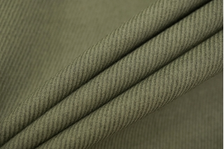 Костюмный хлопок с шерстью зеленый TXH-A7 09102072