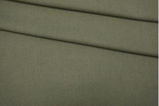Костюмный хлопок с шерстью зеленый TXH-D7 09102072