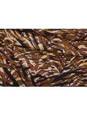 Креповая вискоза полоски коричнево-желтые LEO-Z4 20102049