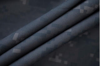Поплин рубашечный пиксельный камуфляж синевато-серый PRT-Z4 10062056
