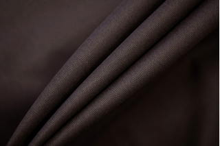 """Костюмный хлопок-стрейч """"под велюр темно-коричневый NST-W6 22062025"""
