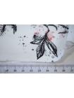 Твил хлопковый цветы на белом NST-H5 22062071