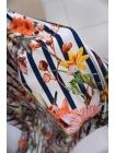 Твил цветы на полоске NST-H5 22062074