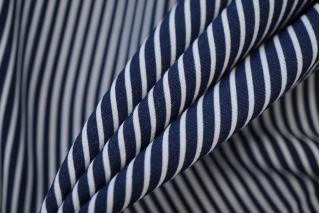 Вискоза плательная сине-белая полоска NST-H5 22062078
