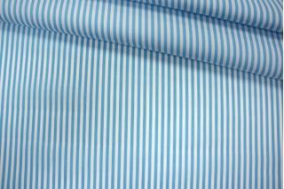 Поплин рубашечный в полоску бело-голубой PRT-E4 07032003