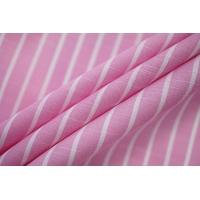 Поплин рубашечный в полоску бело-розовый с фактурой PRT-E4 07032009