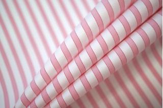 Рубашечный хлопок с вискозой в полоску бело-розовый PRT-E4 07032010