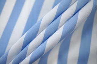 Поплин рубашечный в полоску бело-голубой PRT-E4 07032011