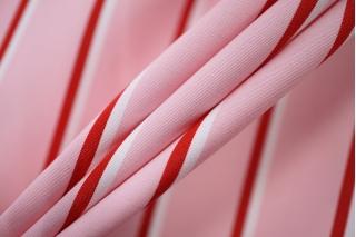 Поплин рубашечный розовый в полоску PRT-E4 07032014