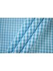 Хлопок рубашечный в клетку бело-голубую PRT-B50 07032020