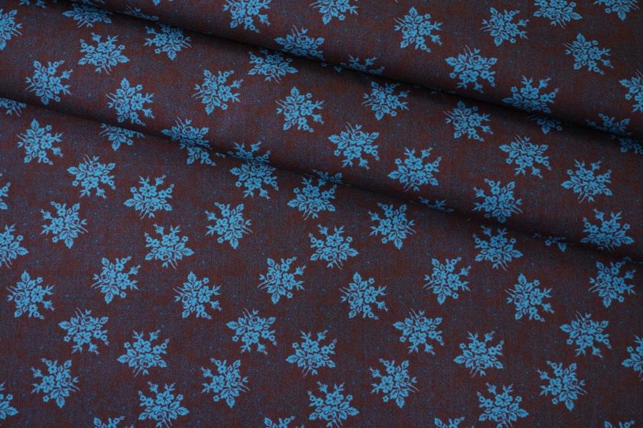 Поплин рубашечный цветочный PRT-G6 07032032