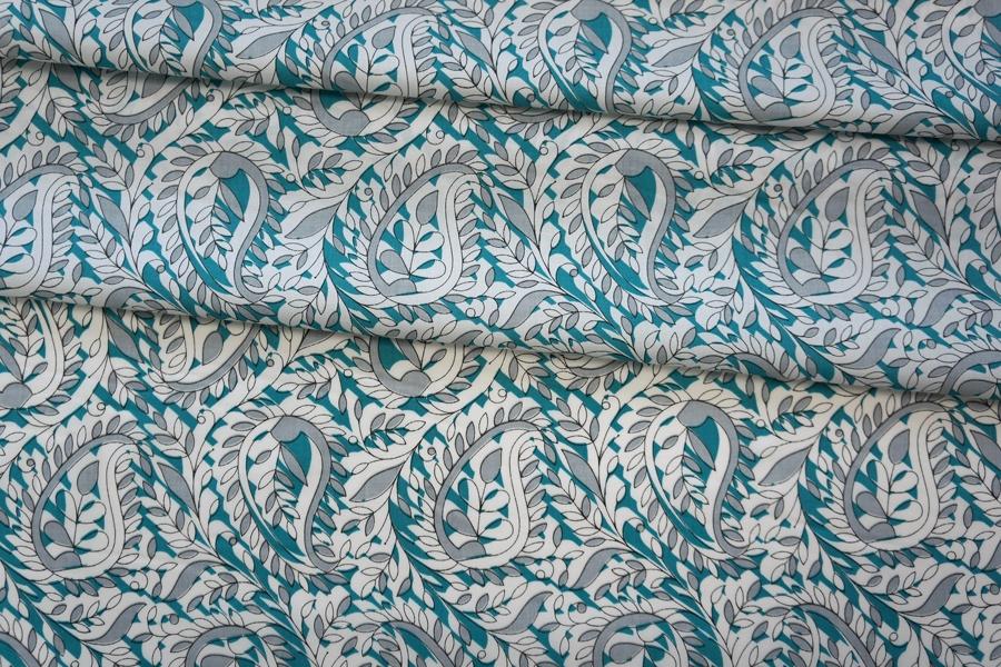 Поплин рубашечный цветочный PRT-G6 07032033