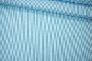 Поплин рубашечный бело-голубой PRT-E5 07032051