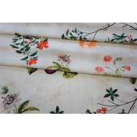 ОТРЕЗ 2,5 М Поплин рубашечный цветочный Ungaro PRT-(40)-07032058-1