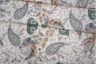 Плательная джинса цветы PRT-F6 16032032