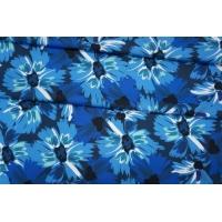 Плательный хлопок синие цветы PRT 17032031