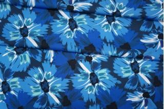 Плательный хлопок синие цветы PRT-E5 17032031