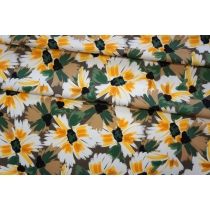 ОТРЕЗ 0,45 М Плательный хлопок желтые цветы PRT-(42)- 17032032-1
