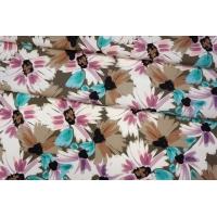 ОТРЕЗ 0,45 М Плательный хлопок разноцветные цветы PRT-(51)- 17032033-1