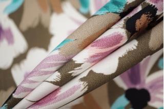 Плательный хлопок разноцветные цветы PRT 17032033