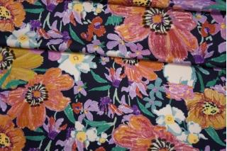 Плательный сатин вискозный цветы PRT 18032001