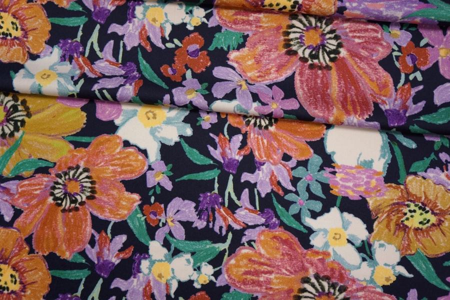 Плательный сатин вискозный цветы PRT-H40 18032001