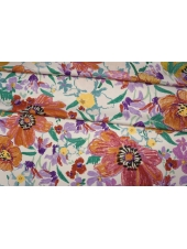 ОТРЕЗ 2,4 М Плательный сатин вискозный цветы PRT-(34)- 18032004-1