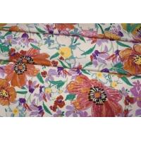Плательный сатин вискозный цветы PRT 18032004