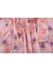 Плательный лен розовый цветочный PRT-E50 19032001