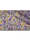 Плательный лен молочный цветочный PRT-E50 19032002