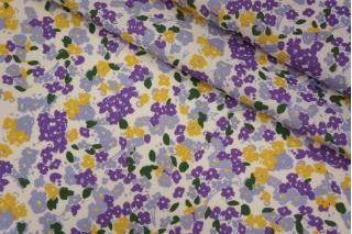 Плательный лен молочный цветочный PRT-E6 19032002