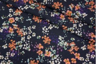 Плательный лен синий цветочный PRT-E6 19032003