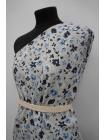 Плательный лен голубой цветочный PRT-H7 19032005